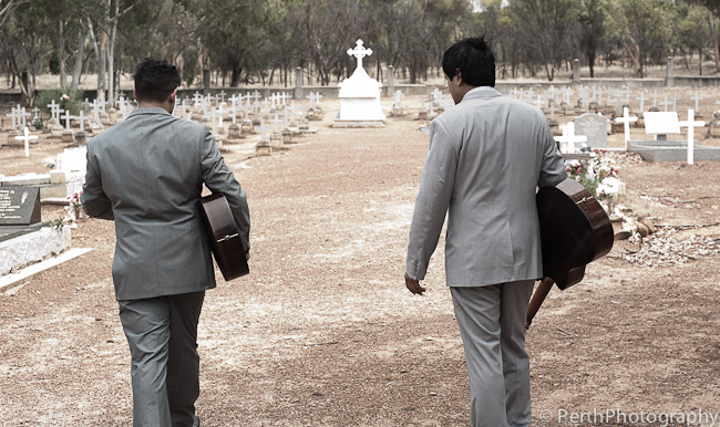 Shooting an album cover in New Norcia, WA 2-02-2012